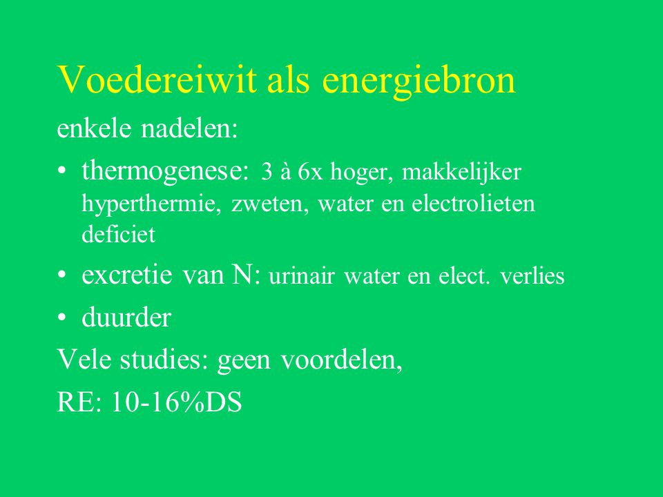 Voedereiwit als energiebron