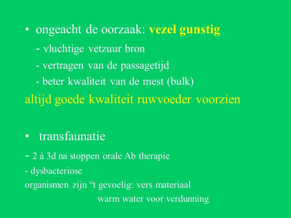 ongeacht de oorzaak: vezel gunstig - vluchtige vetzuur bron