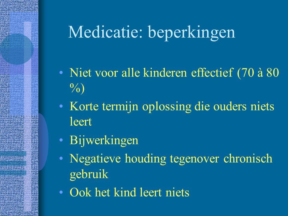Medicatie: beperkingen