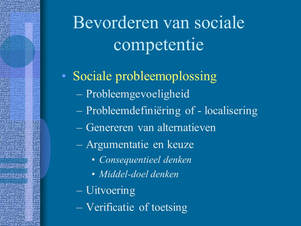 Bevorderen van sociale competentie