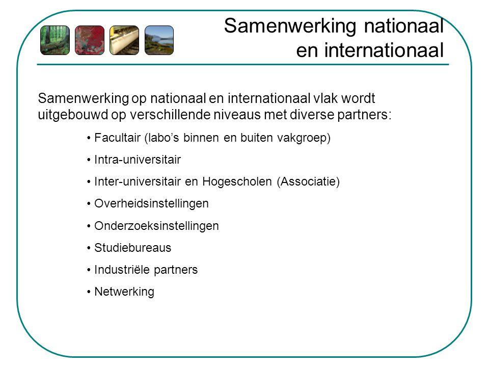 Samenwerking nationaal en internationaal