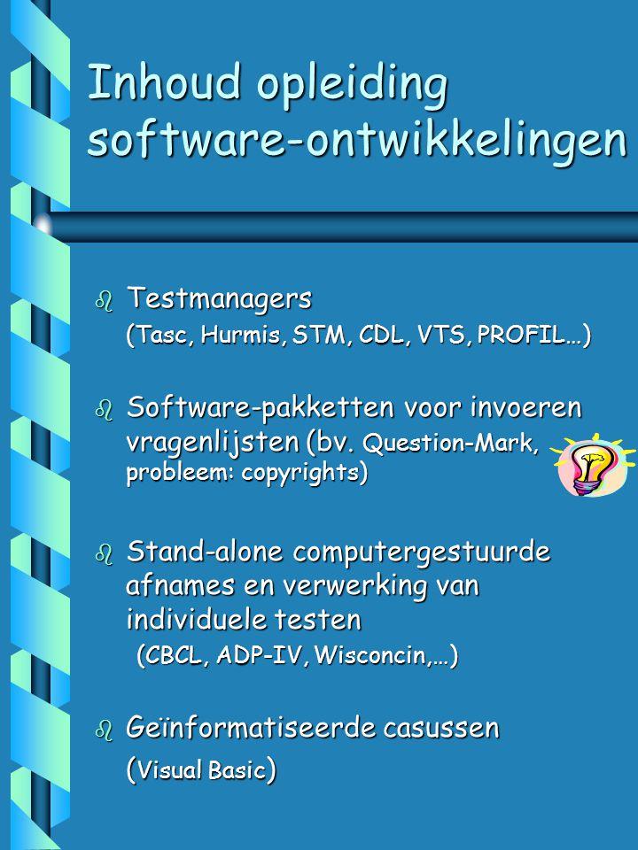 Inhoud opleiding software-ontwikkelingen
