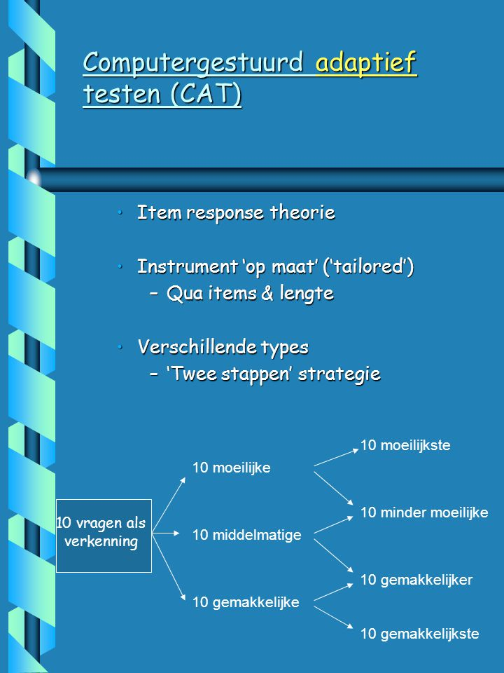 Computergestuurd adaptief testen (CAT)