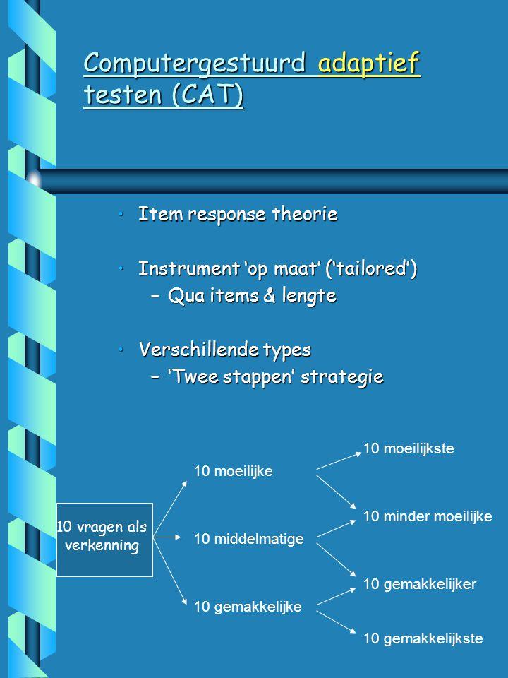 Computergestuurd adaptief testen (CAT)