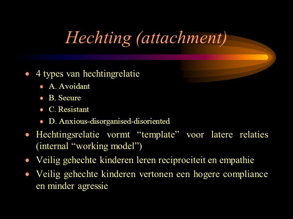 Hechting (attachment)