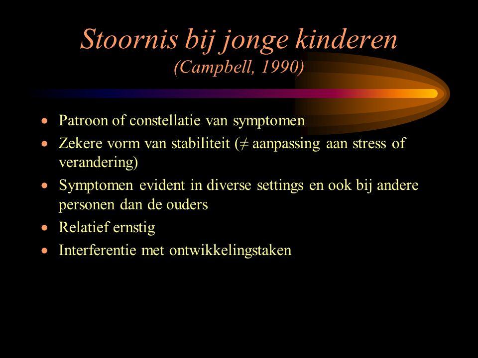 Stoornis bij jonge kinderen (Campbell, 1990)