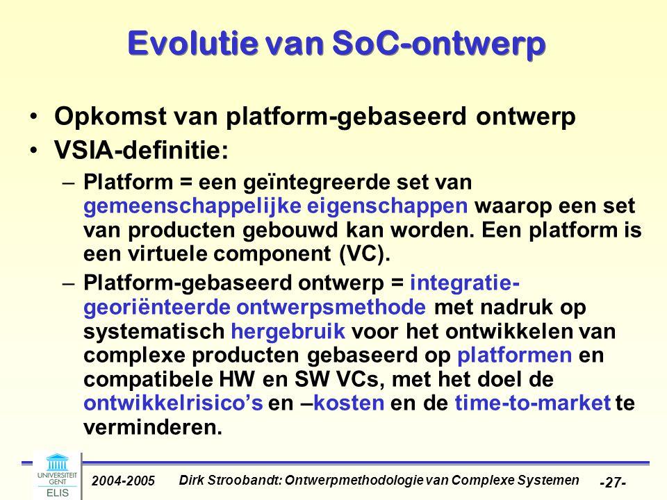 Evolutie van SoC-ontwerp