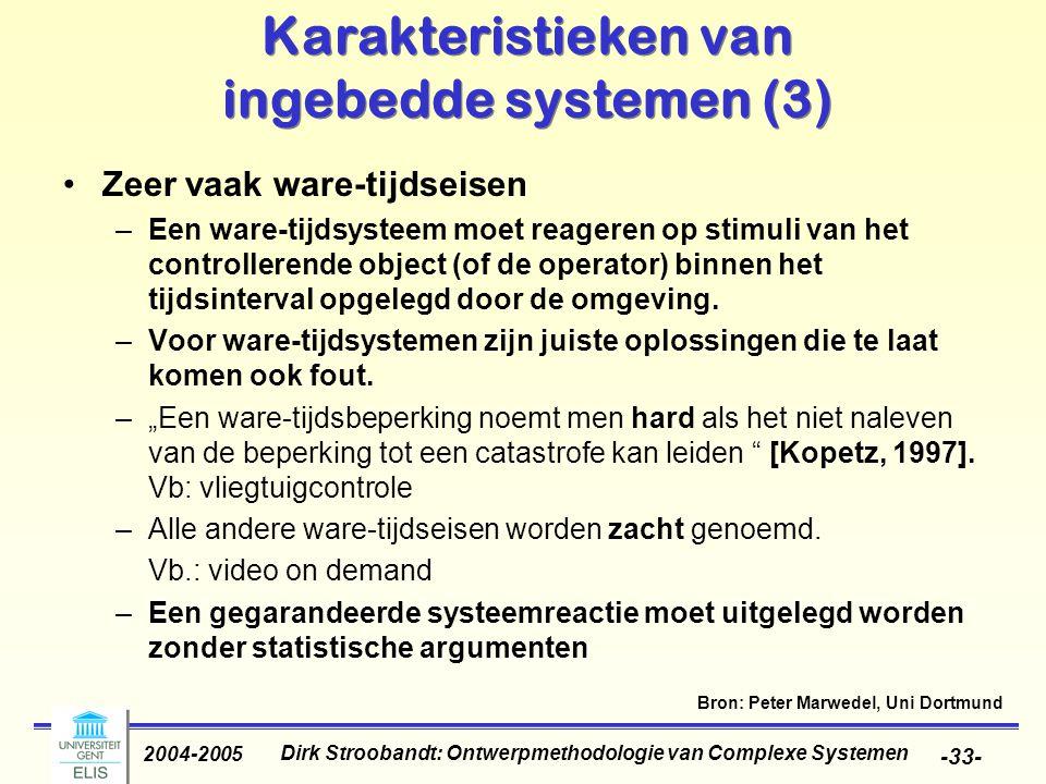 Karakteristieken van ingebedde systemen (3)