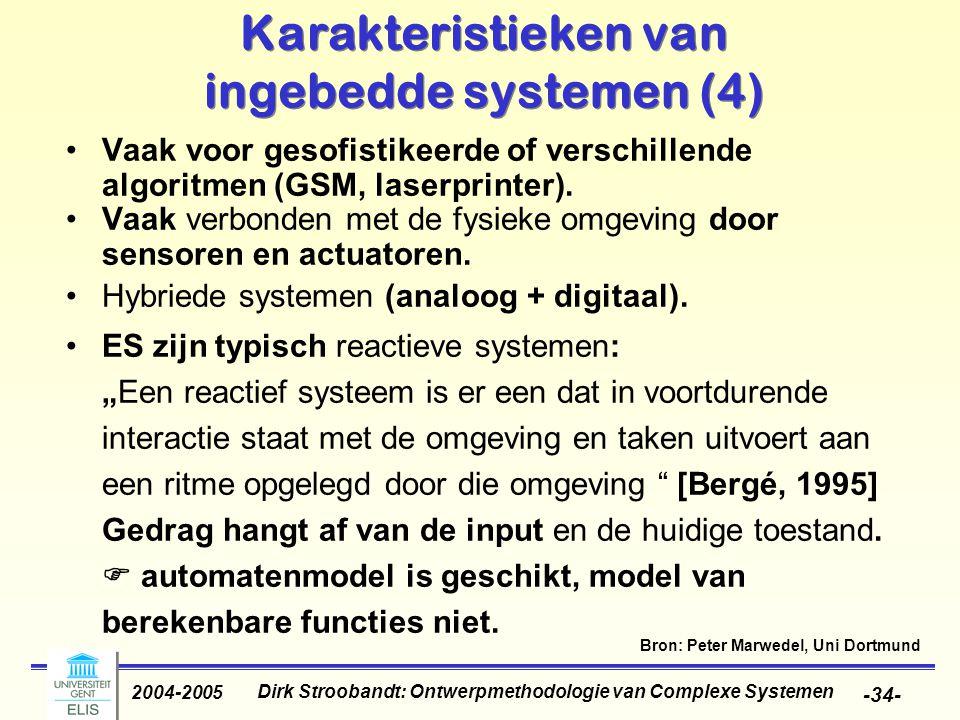 Karakteristieken van ingebedde systemen (4)