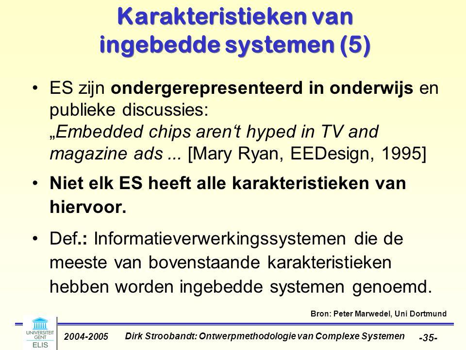 Karakteristieken van ingebedde systemen (5)