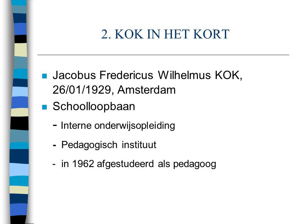 - Interne onderwijsopleiding - in 1962 afgestudeerd als pedagoog