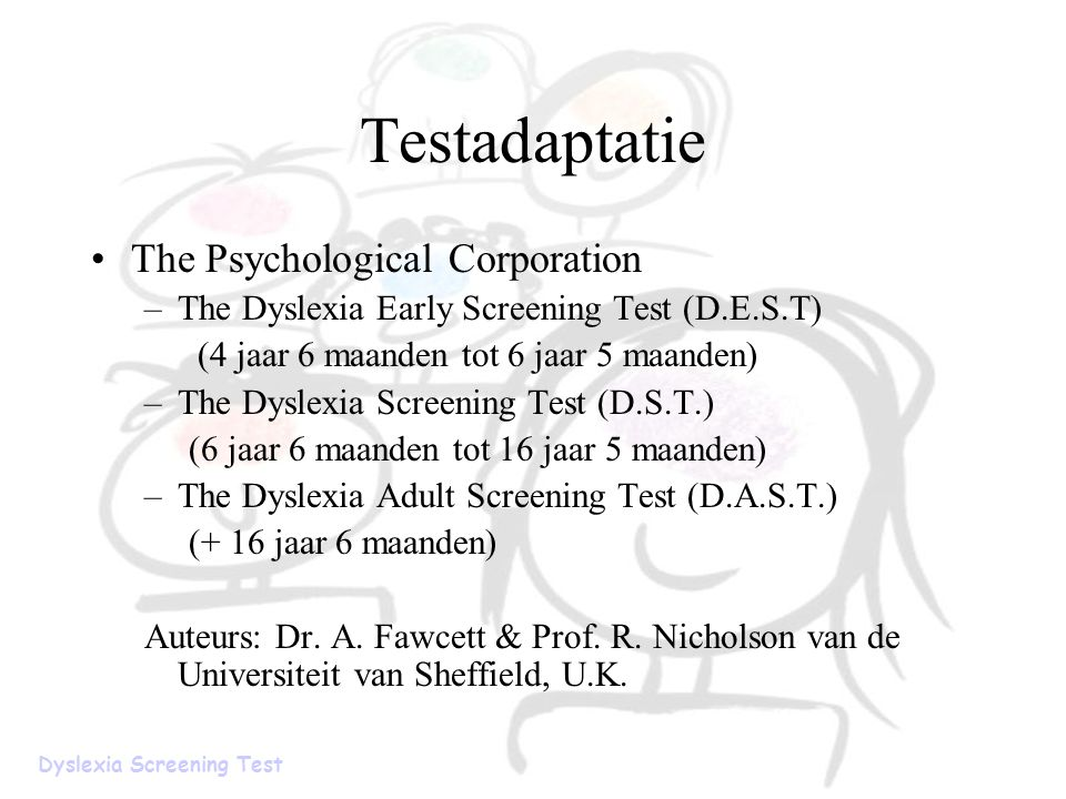 Testadaptatie The Psychological Corporation