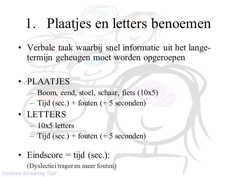 Plaatjes en letters benoemen