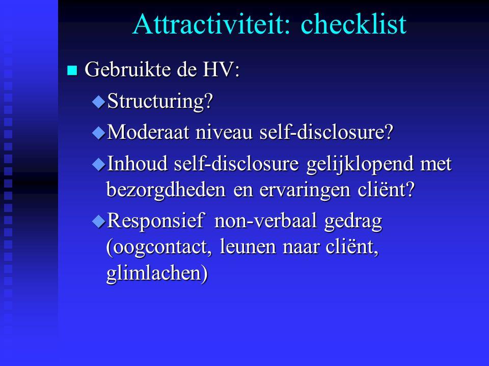 Attractiviteit: checklist