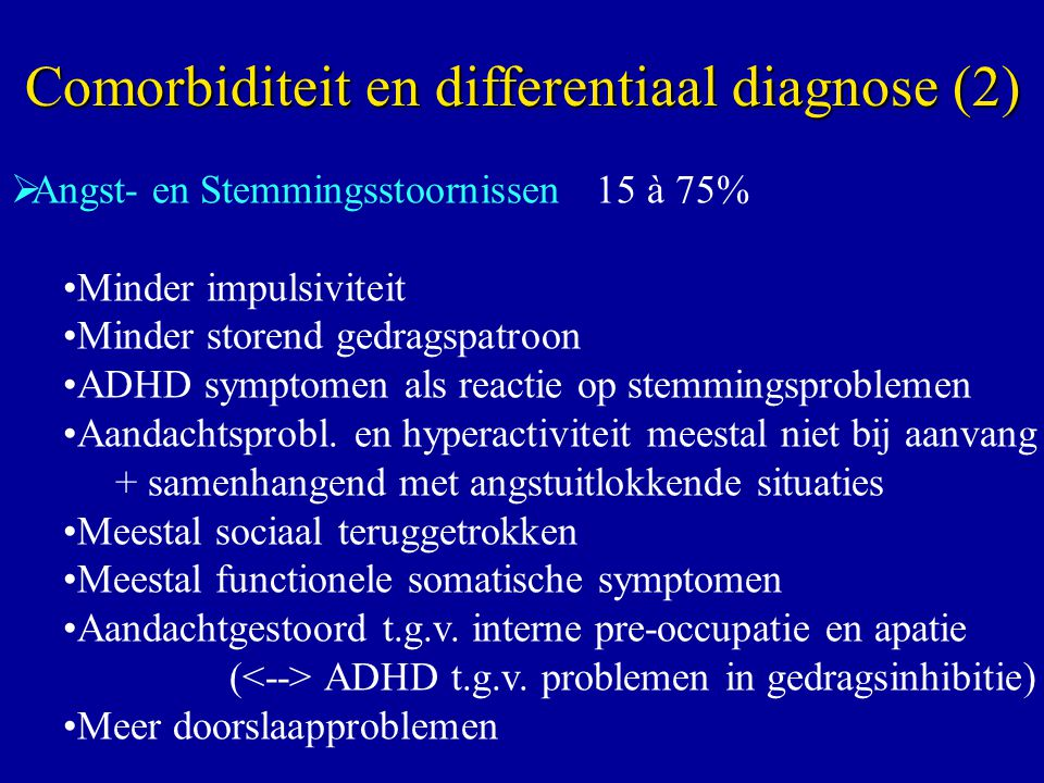 Comorbiditeit en differentiaal diagnose (2)