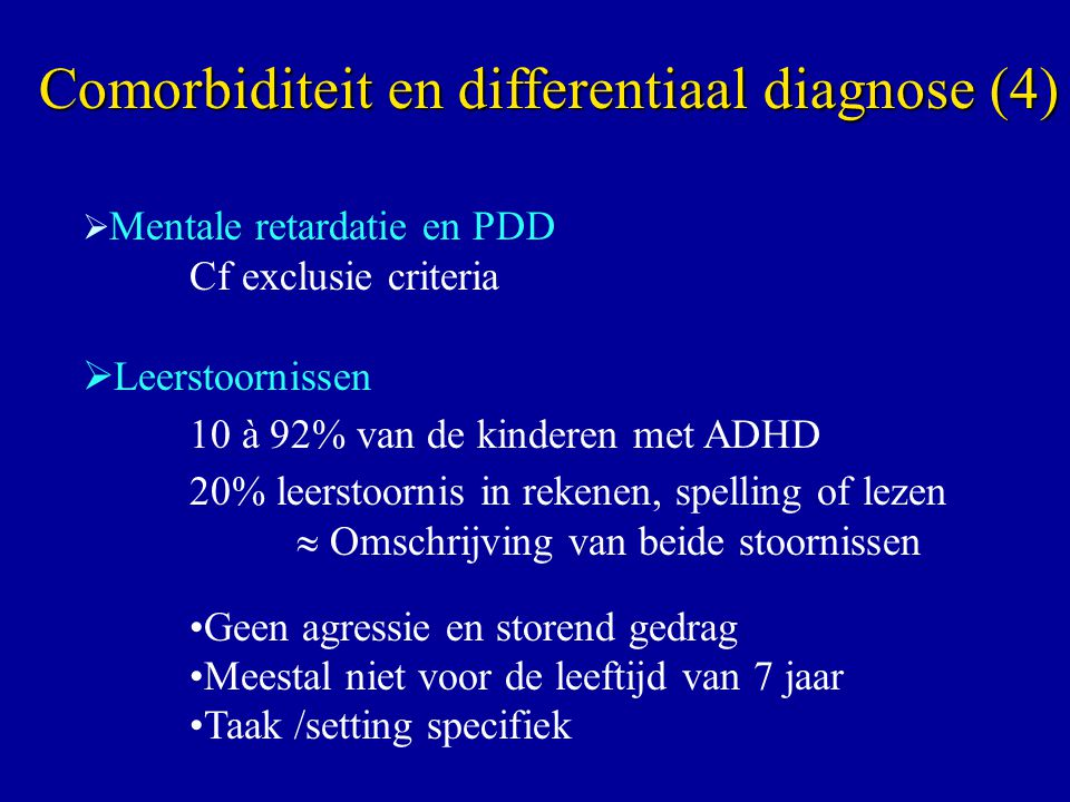 Comorbiditeit en differentiaal diagnose (4)