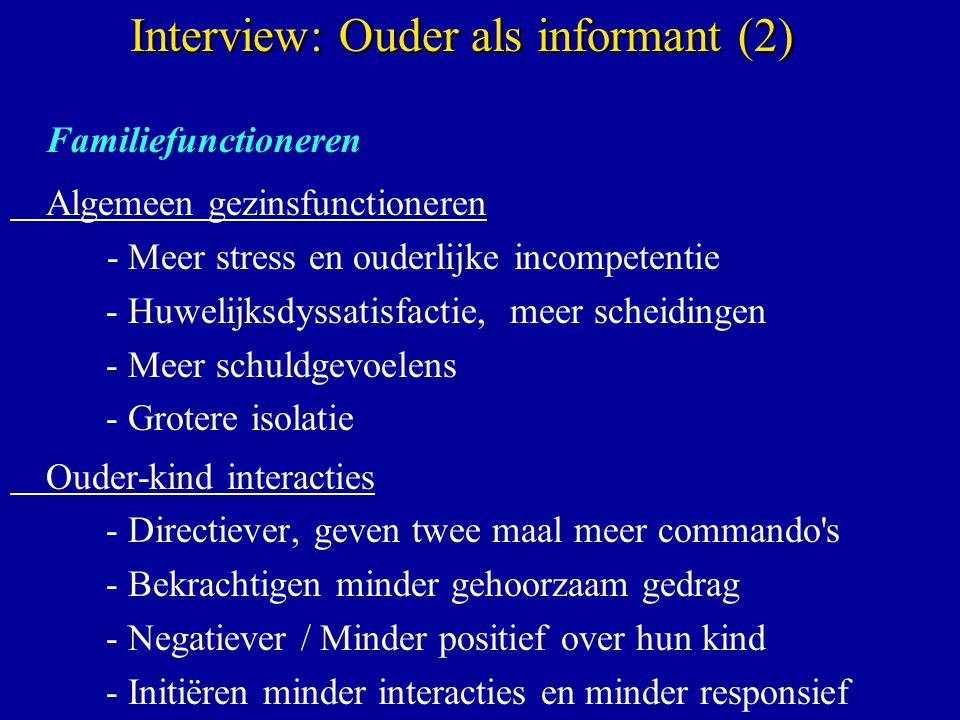 Interview: Ouder als informant (2)