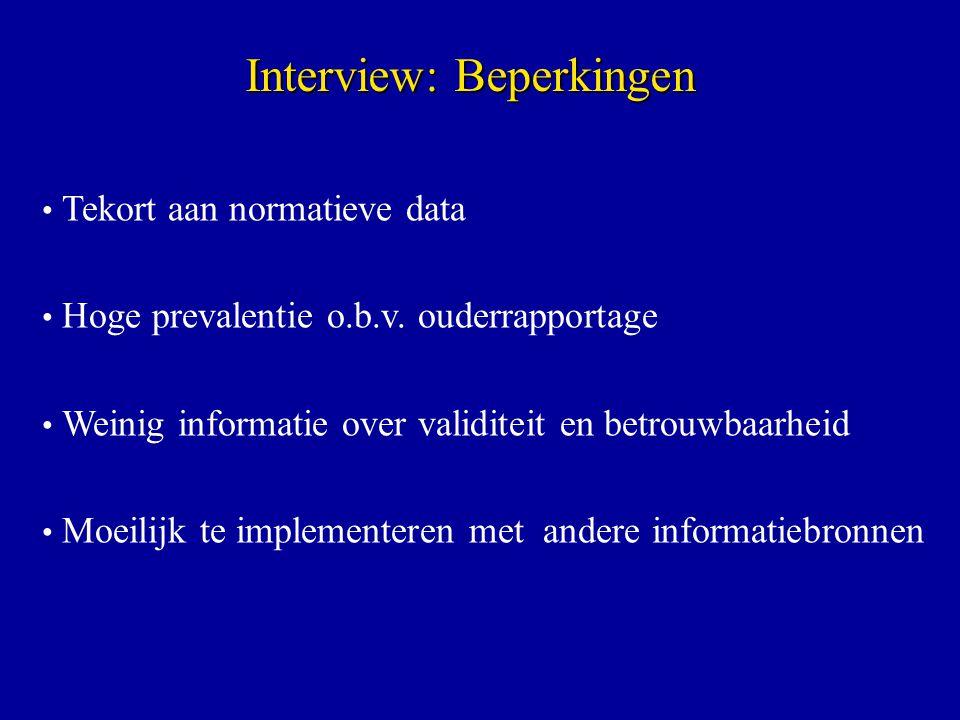 Interview: Beperkingen