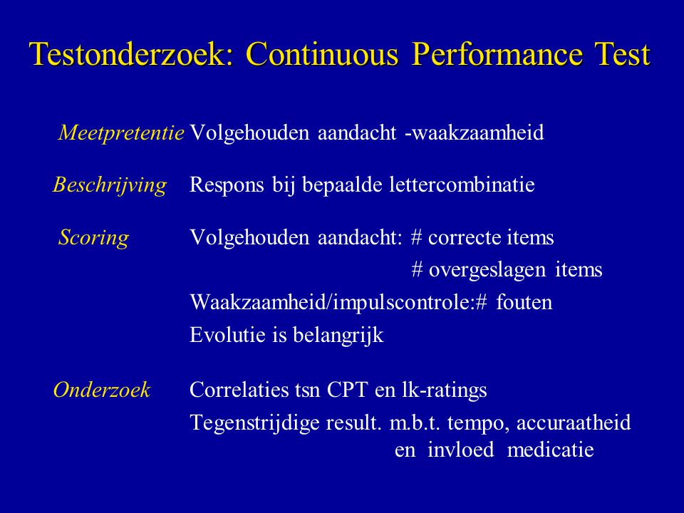Testonderzoek: Continuous Performance Test