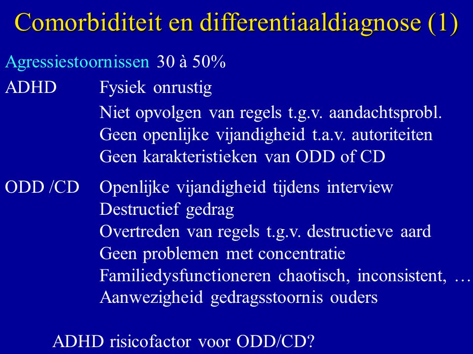 Comorbiditeit en differentiaaldiagnose (1)