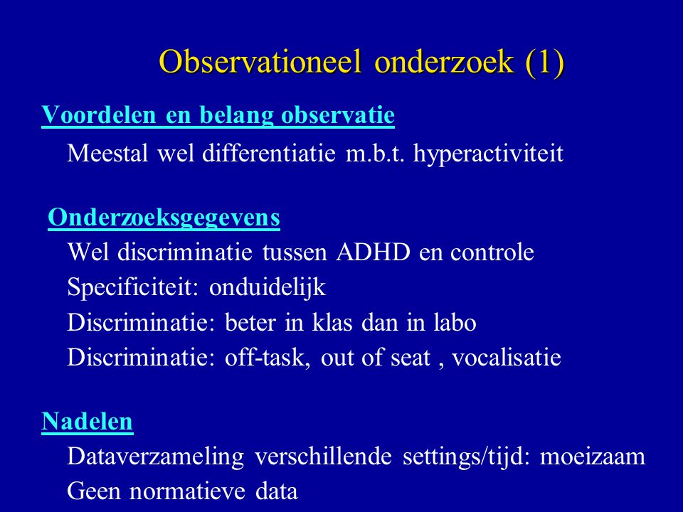 Observationeel onderzoek (1)