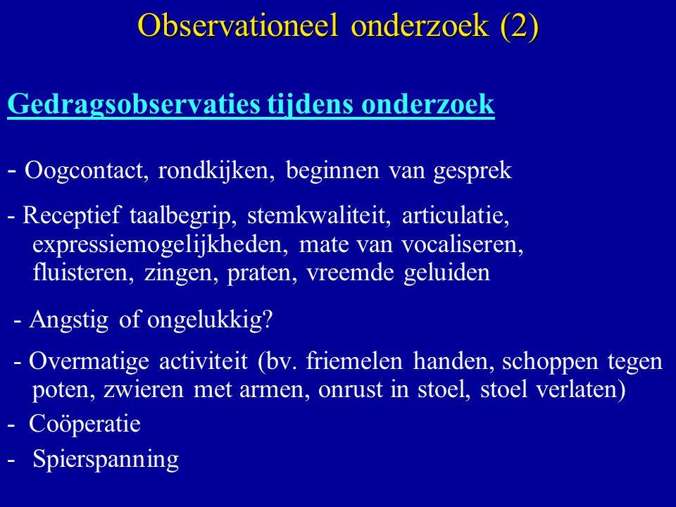 Observationeel onderzoek (2)