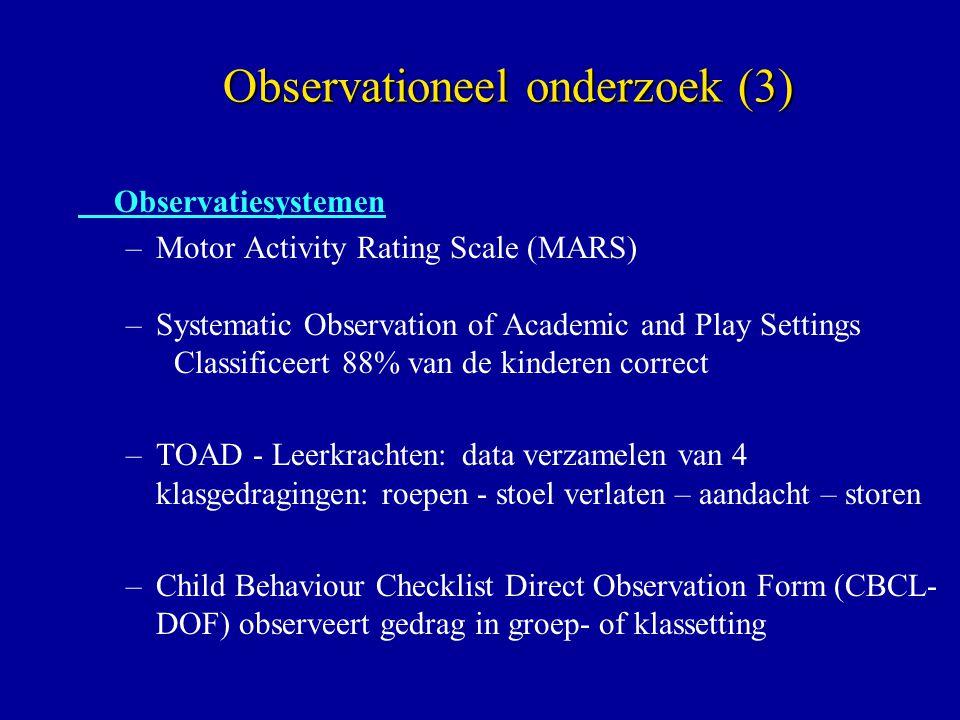 Observationeel onderzoek (3)
