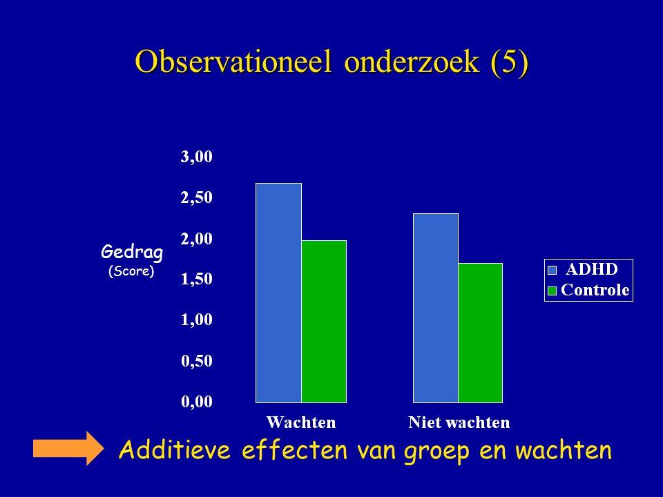 Observationeel onderzoek (5)
