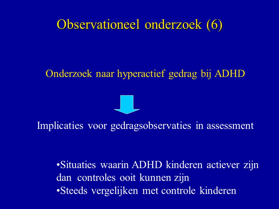 Observationeel onderzoek (6)