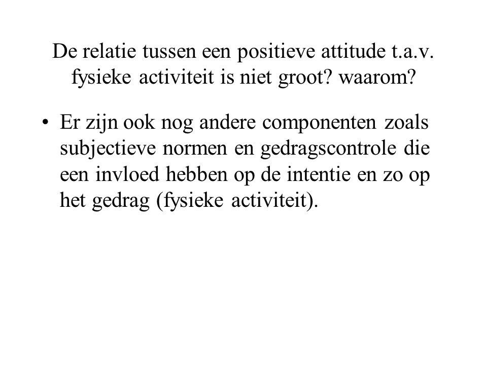 De relatie tussen een positieve attitude t. a. v