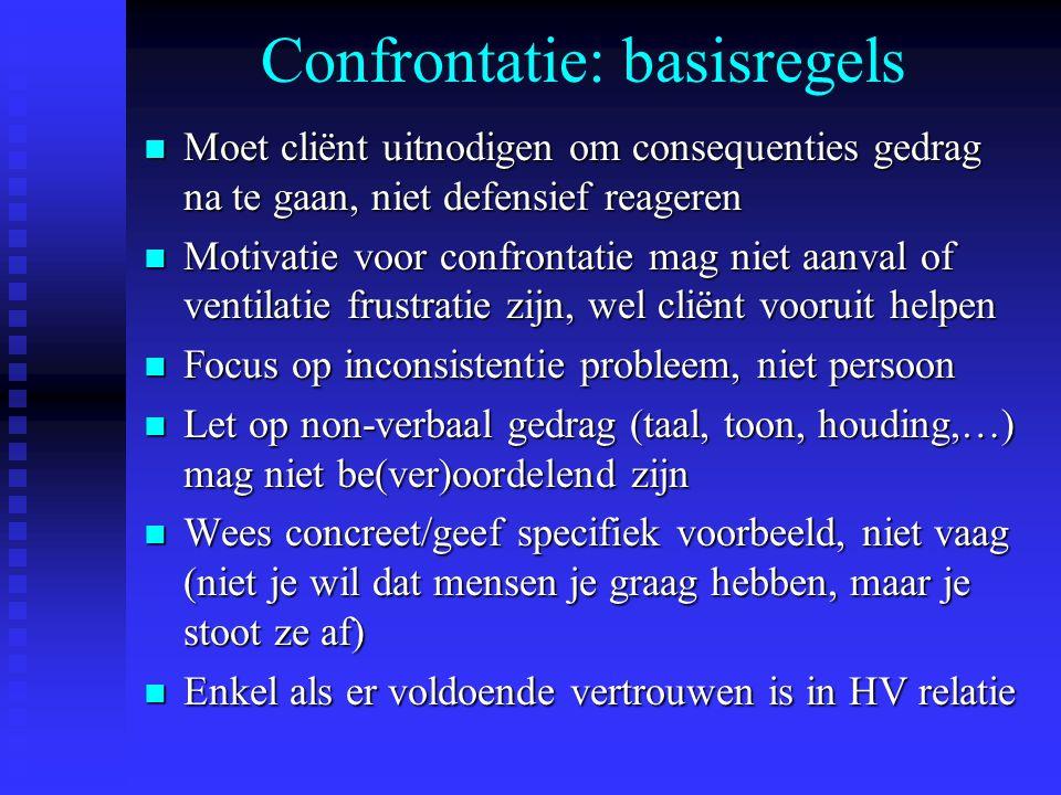 Confrontatie: basisregels