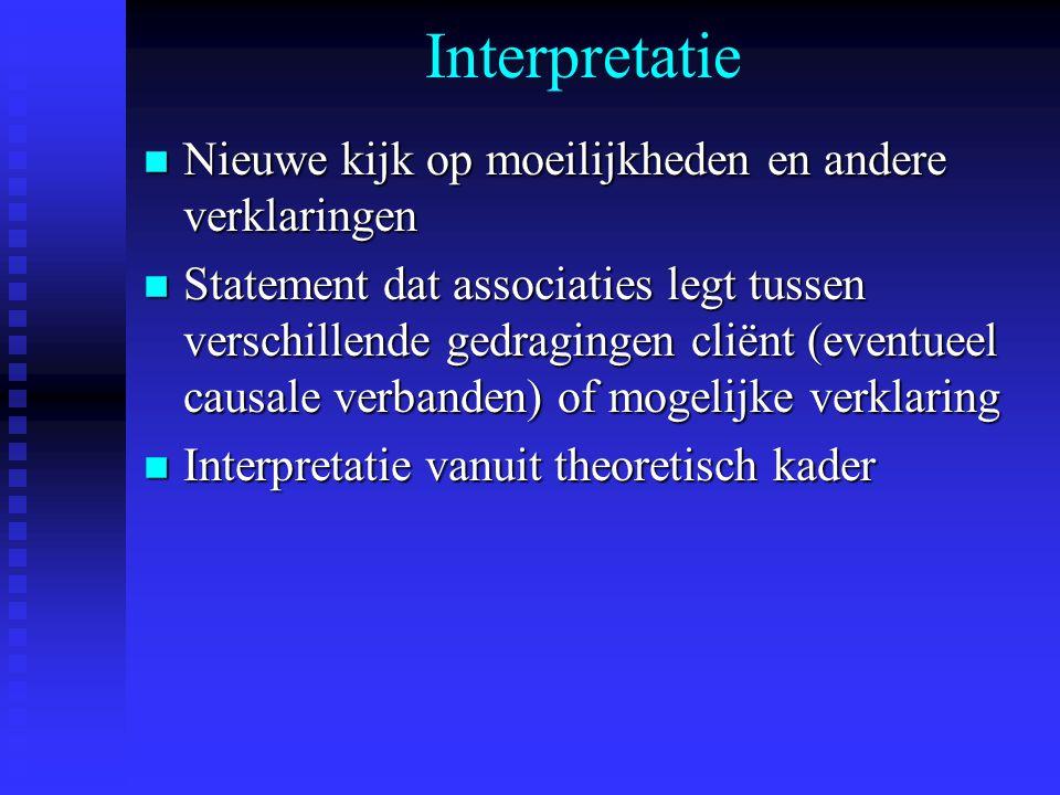 Interpretatie Nieuwe kijk op moeilijkheden en andere verklaringen