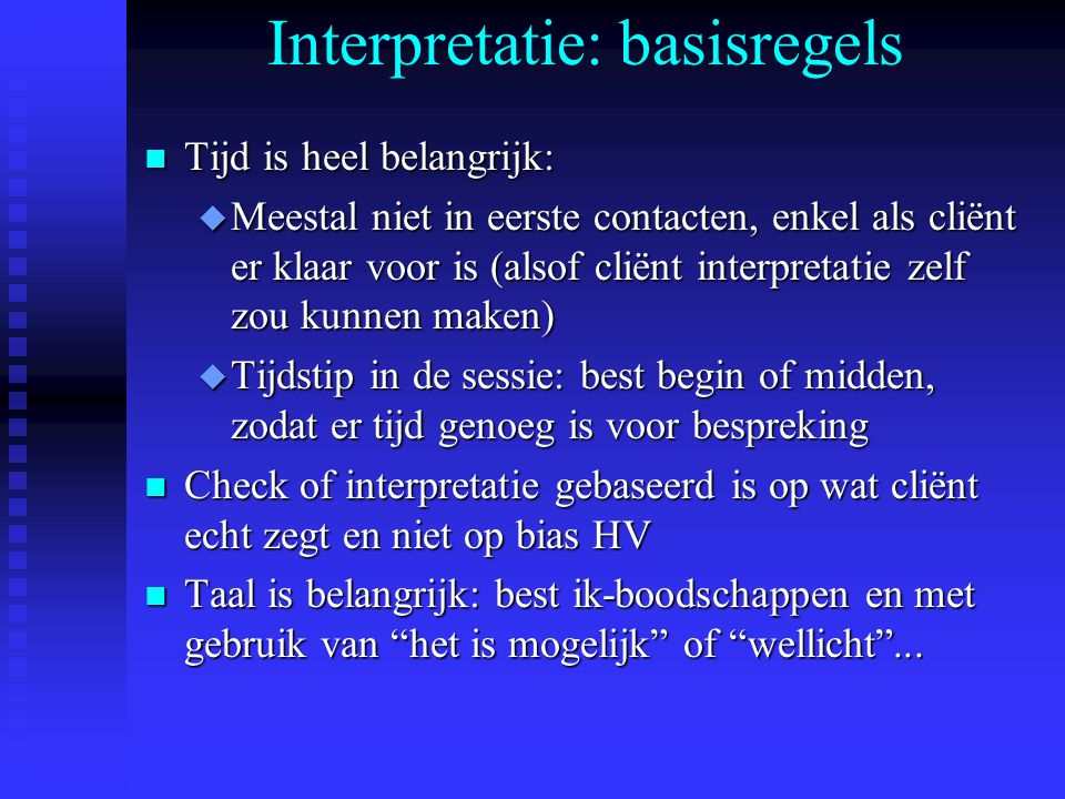 Interpretatie: basisregels