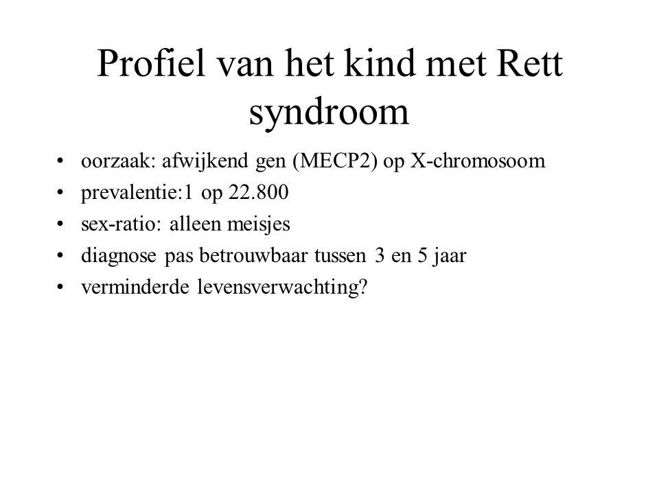 Profiel van het kind met Rett syndroom