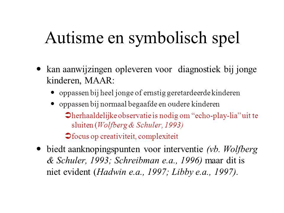 Autisme en symbolisch spel
