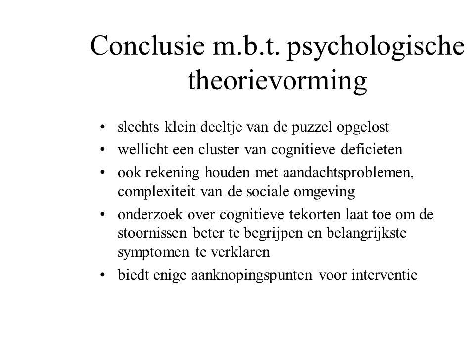 Conclusie m.b.t. psychologische theorievorming