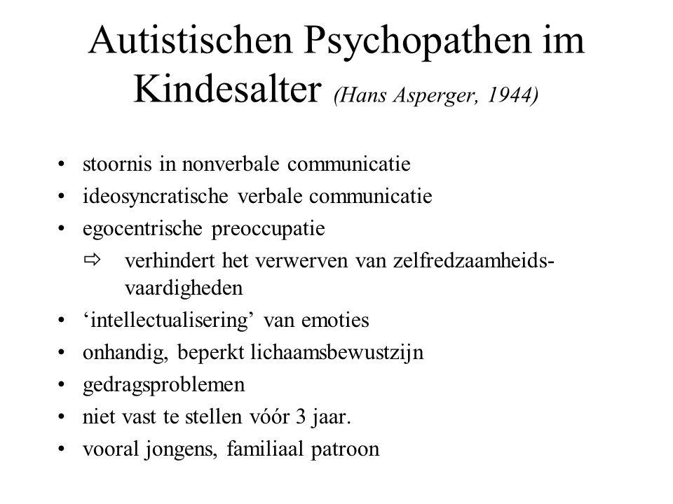 Autistischen Psychopathen im Kindesalter (Hans Asperger, 1944)