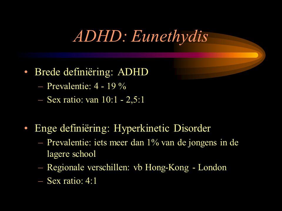 ADHD: Eunethydis Brede definiëring: ADHD