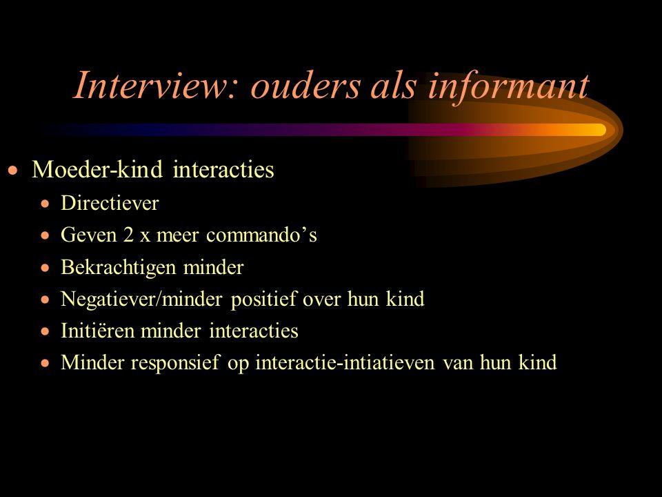 Interview: ouders als informant
