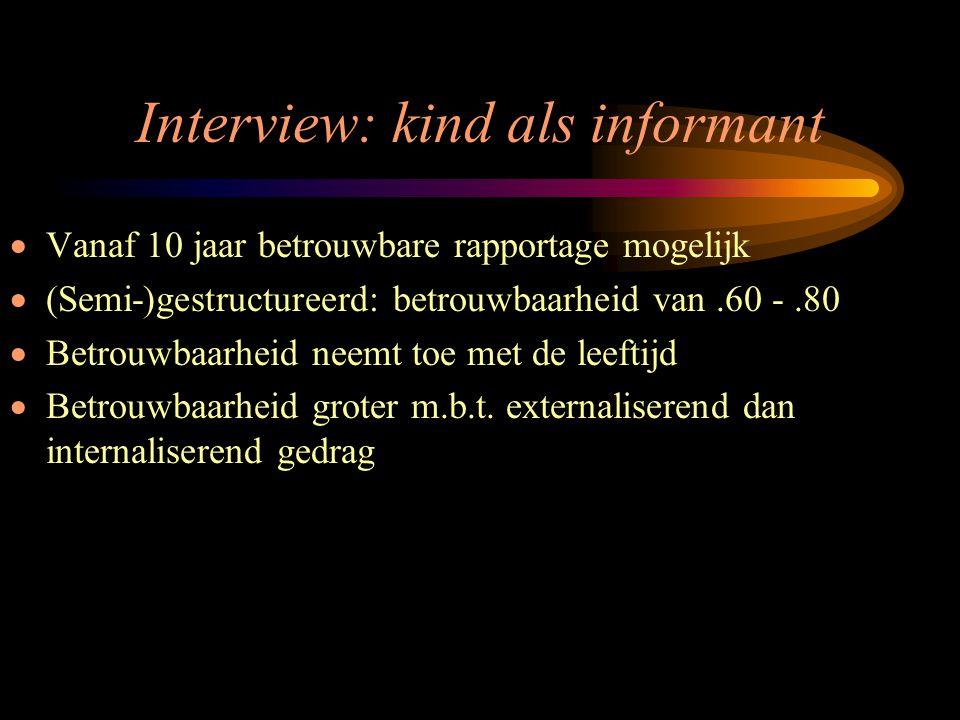 Interview: kind als informant