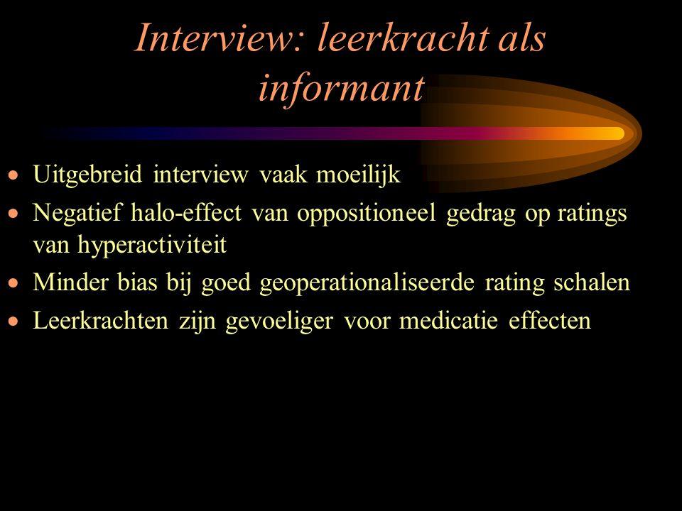 Interview: leerkracht als informant