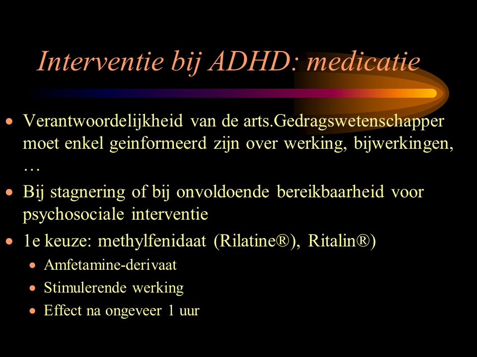 Interventie bij ADHD: medicatie