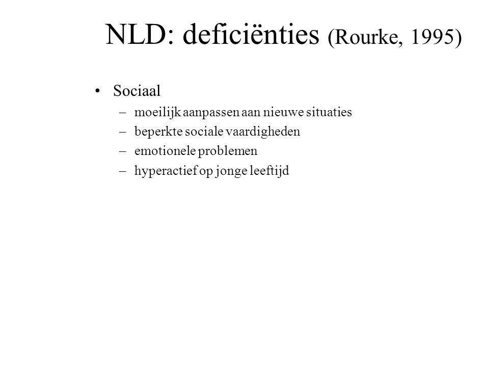NLD: deficiënties (Rourke, 1995)