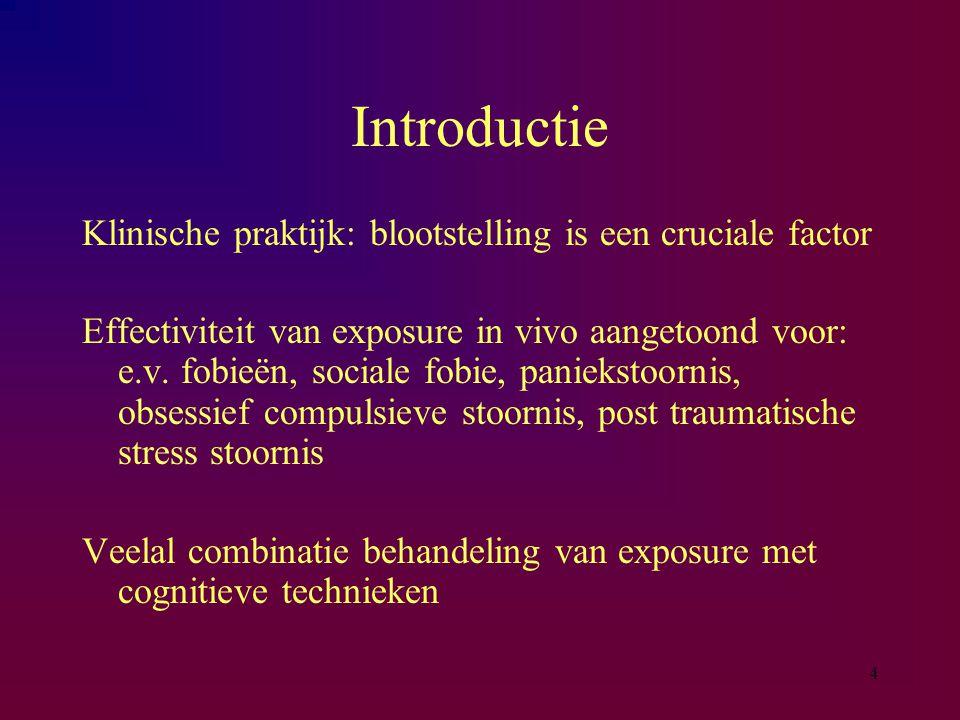 Introductie Klinische praktijk: blootstelling is een cruciale factor
