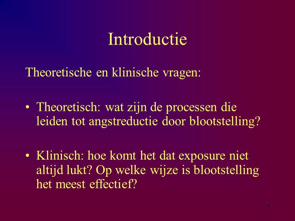 Introductie Theoretische en klinische vragen: