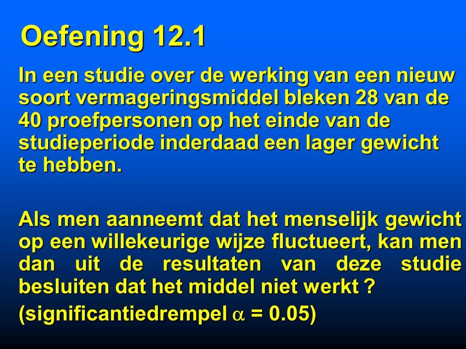 Oefening 12.1