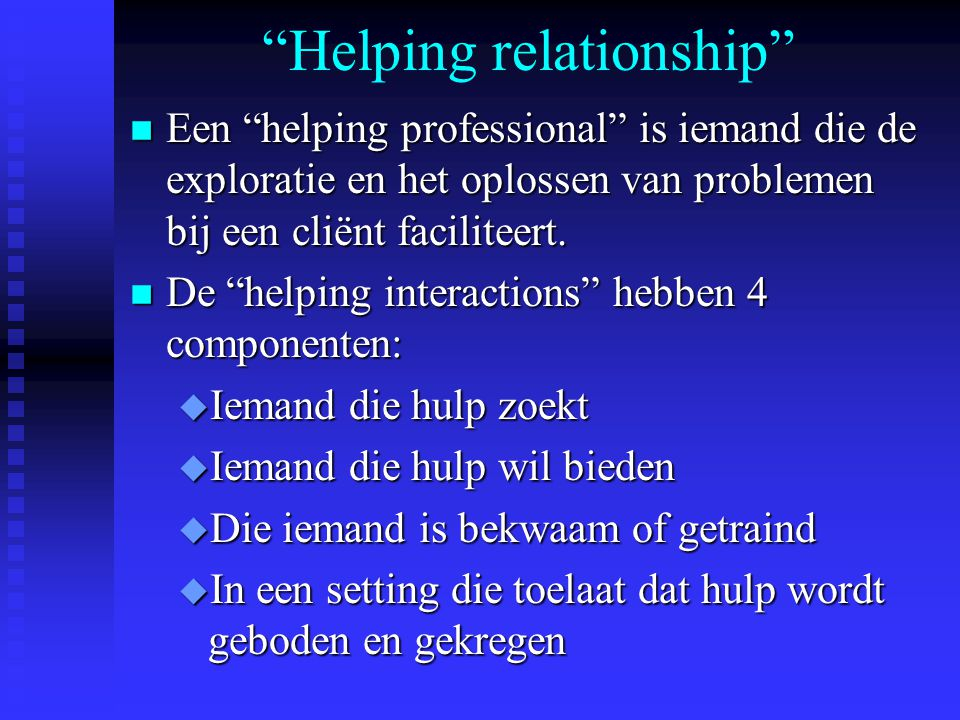 Helping relationship
