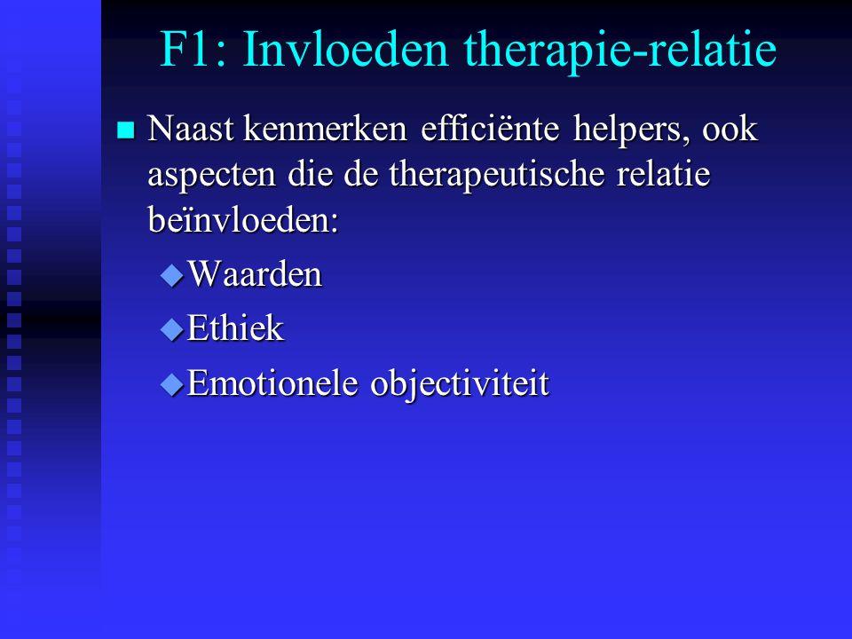 F1: Invloeden therapie-relatie