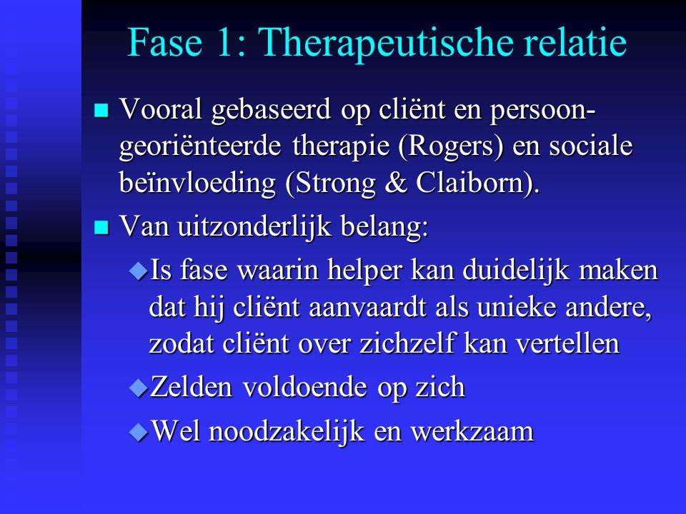Fase 1: Therapeutische relatie