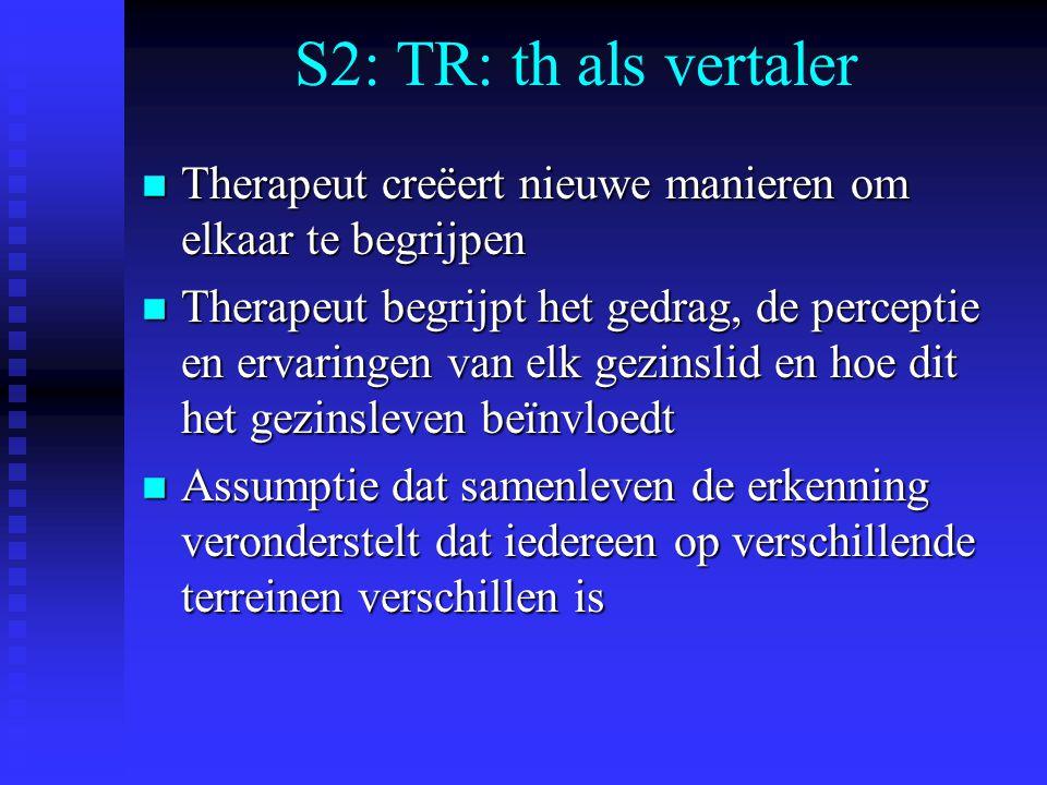 S2: TR: th als vertaler Therapeut creëert nieuwe manieren om elkaar te begrijpen.